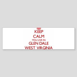 Keep calm you live in Glen Dale Wes Bumper Sticker