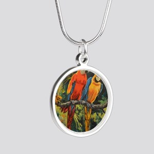 Parrots Silver Round Necklace