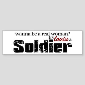 Real Woman Bumper Sticker