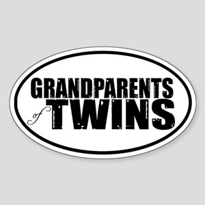 GRANDPARENTS of TWINS Oval Sticker