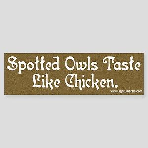 Spotted Owls Taste Like Chicken