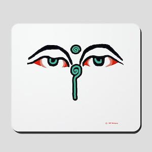 Watchful Eyes of BuddhaMousepad