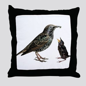 Starling Mom & Baby Throw Pillow