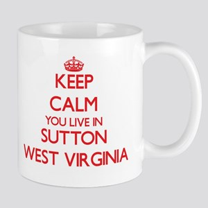 Keep calm you live in Sutton West Virginia Mugs