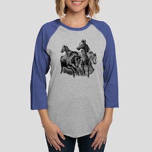 Wild Horses Illustration Long Sleeve T-Shirt