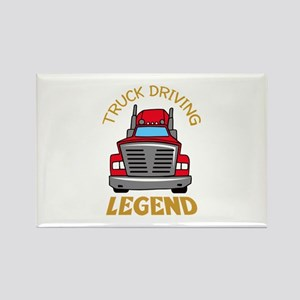 TRUCK DRIVING LEGEND Magnets