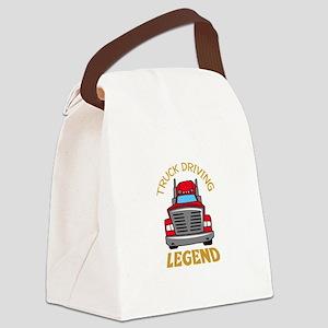 TRUCK DRIVING LEGEND Canvas Lunch Bag