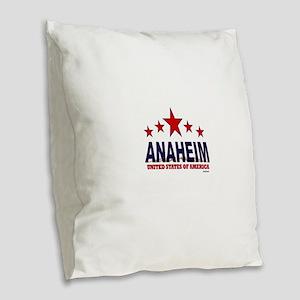 Anaheim U.S.A. Burlap Throw Pillow