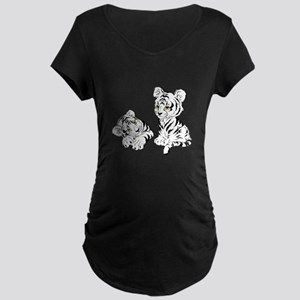 White Cubs Maternity Dark T-Shirt