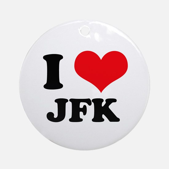 I Love JFK Ornament (Round)