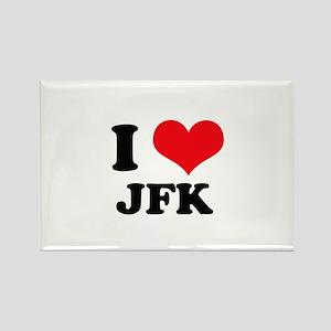 I Love JFK Rectangle Magnet
