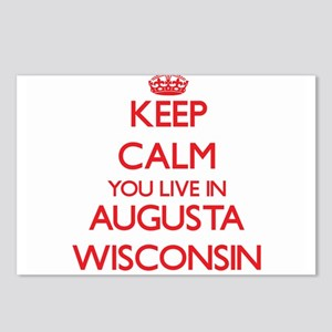 Keep calm you live in Aug Postcards (Package of 8)