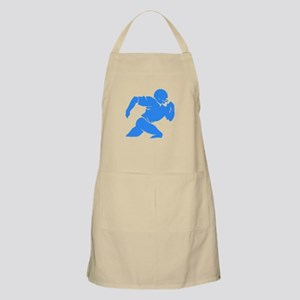 Blue Football Player Silhouette Apron