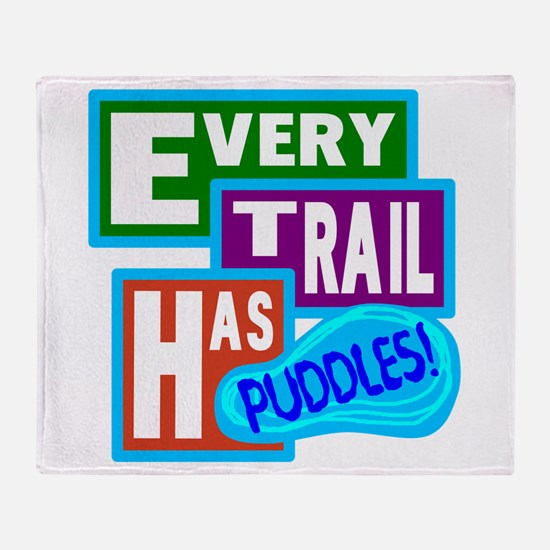 Puddles Throw Blanket