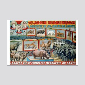 JOHN ROBINSON MENAGERIE poster 11x17