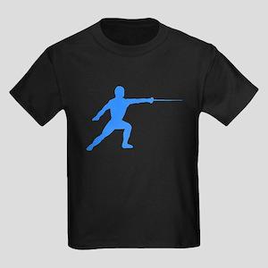 Blue Fencer Silhouette T-Shirt