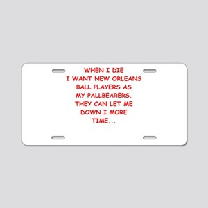 new orleans sports Aluminum License Plate