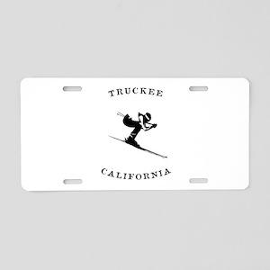 Truckee California Ski Fast Aluminum License Plate