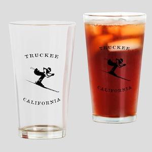 Truckee California Ski Fast Drinking Glass