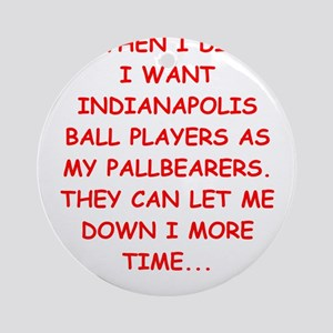 indianapolis sports Ornament (Round)