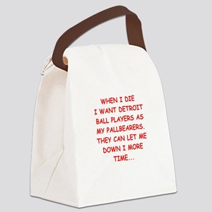detroit sports joke Canvas Lunch Bag