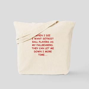 detroit sports joke Tote Bag