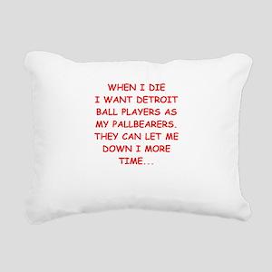 detroit sports joke Rectangular Canvas Pillow