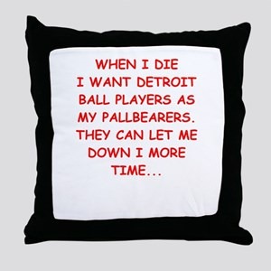 detroit sports joke Throw Pillow