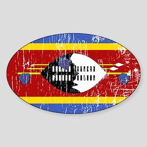 Vintage Swaziland Oval Sticker