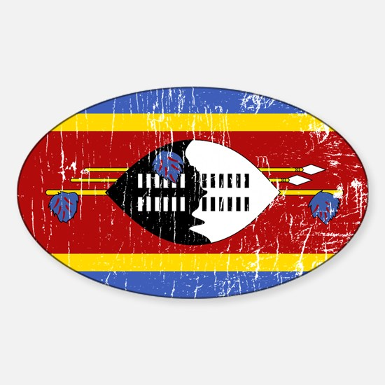 Vintage Swaziland Oval Decal
