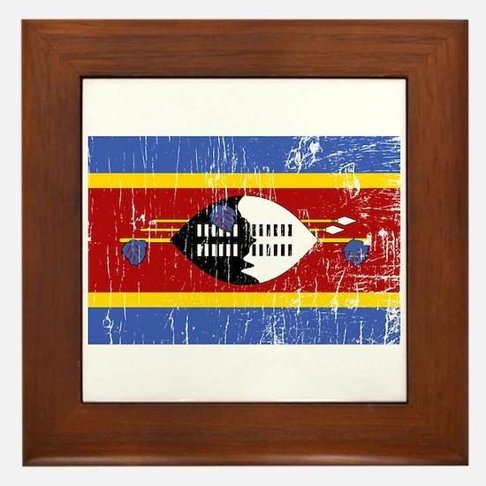 Vintage Swaziland Framed Tile