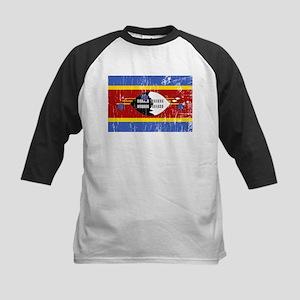 Vintage Swaziland Kids Baseball Jersey
