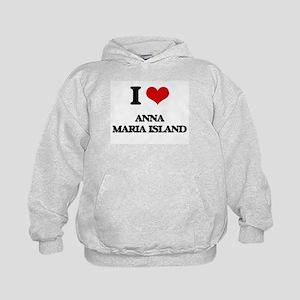 I Love Anna Maria Island Kids Hoodie