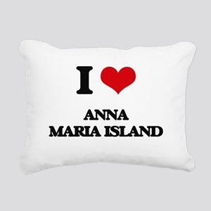 I Love Anna Maria Island Rectangular Canvas Pillow