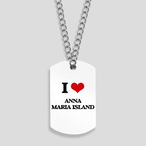 I Love Anna Maria Island Dog Tags