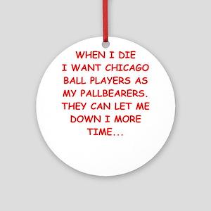 chicago sports Ornament (Round)