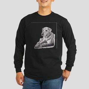 Yellow Lab Long Sleeve Dark T-Shirt