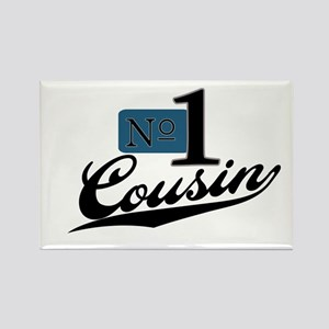 Number One Cousin (blue) Rectangle Magnet
