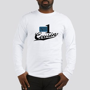 Number One Cousin (blue) Long Sleeve T-Shirt