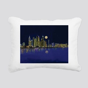 Reflection of city Rectangular Canvas Pillow
