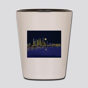 Reflection of city Shot Glass