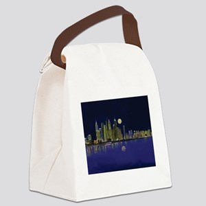 Reflection of city Canvas Lunch Bag