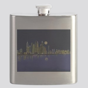 Reflection of city Flask