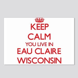 Keep calm you live in Eau Postcards (Package of 8)