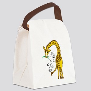 LIFE IS A ZOO Canvas Lunch Bag
