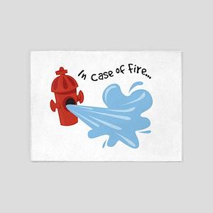 FireHydrant_InCaseOfFire 5'x7'Area Rug