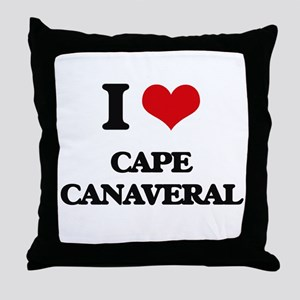 I Love Cape Canaveral Throw Pillow