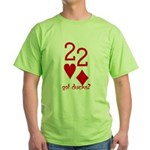 Quack Quack Ducks Poker Green T-Shirt