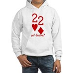 Quack Quack Ducks Poker Hooded Sweatshirt