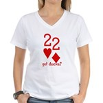 Quack Quack Got Ducks Poker Women's V-Neck T-Shirt